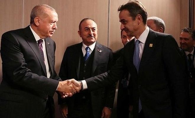 Erdoğan, Miçotakis ile bir araya geldi