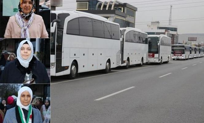 Gaziantepli kadınlar `Vicdan Konvoyu`na destek için yola çıktı