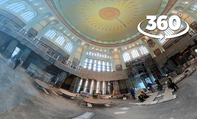 Taksim Meydanı'nda inşaatı süren camide sona yaklaşıldı