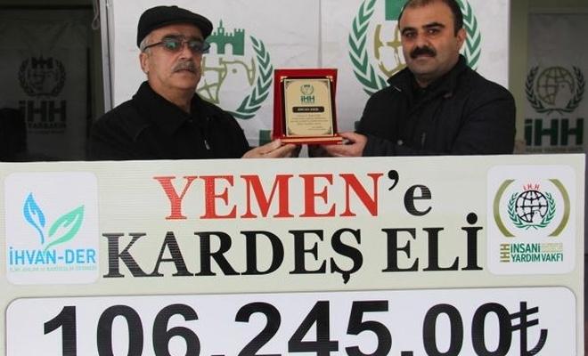 Diyarbakır`dan Yemen`e yardım eli