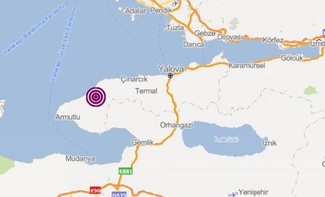 Yalova`da 4,5 büyüklüğünde deprem