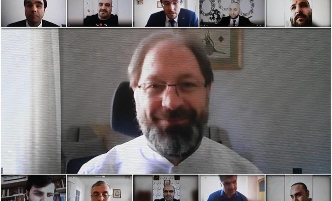 Diyanet İşleri Başkanı Erbaş, engellilerle video konferans sistemiyle görüştü
