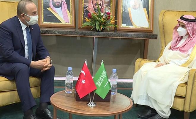 Bakan Çavuşoğlu, Suudi Dışişleri Bakanı ile görüştü