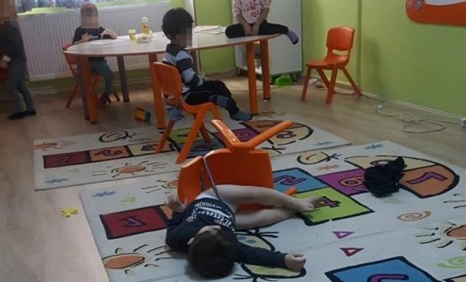 Özel okulda çocukları sandalyeye bağladılar