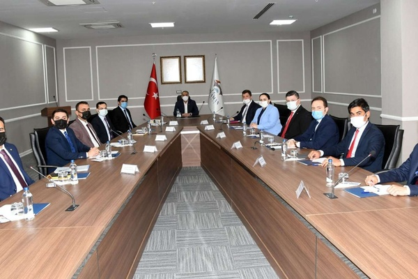 Adıyaman ilçe kaymakamları Vali Mahmut Çuhadar Başkanlığında toplandı
