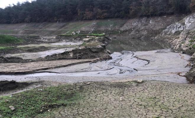 İstanbul Elmalı Barajı alarm veriyor: Suların yüzde 76'sı çekildi