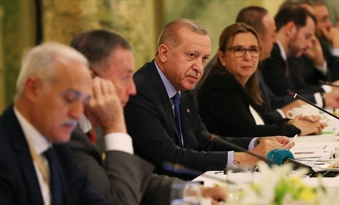 Cumhurbaşkanı Erdoğan ABD'de Yuvarlak Masa Toplantısı'na katıldı