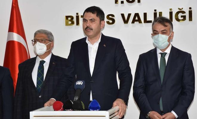"""Bakan Kurum'dan """"Bitlis Dere Üstü Islah Projesi"""" açıklaması"""