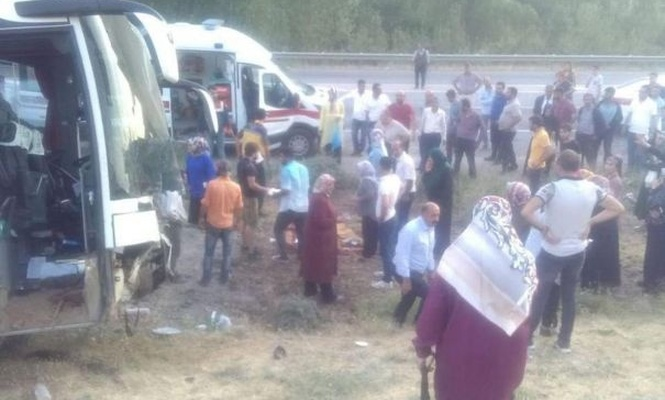 Bus collides with a car: 4 dead 13 injured