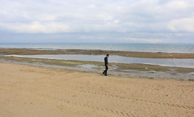 Yalova`da deniz suyu 25 metre çekildi