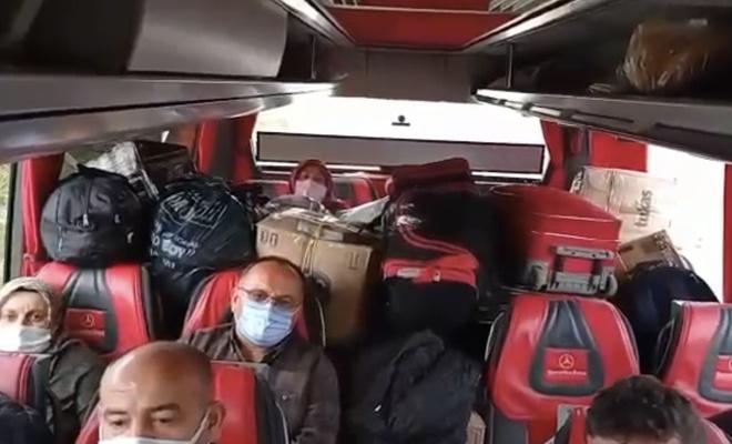 Koridoru çuvallarla dolduran otobüse para cezası