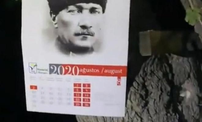 """""""Atatürk fotoğrafı yanmamış""""mış!"""