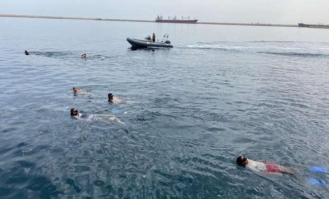 Libyalı askerlere deniz eğitimi veriliyor