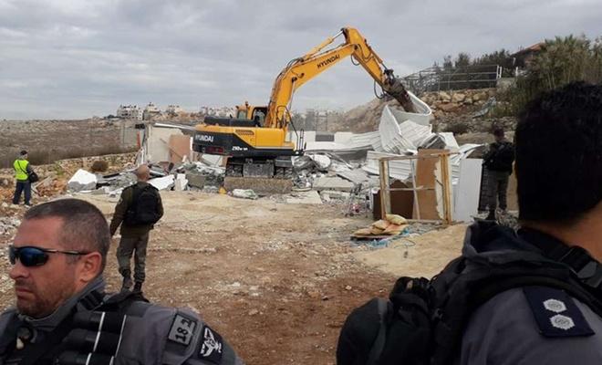 Siyonistler şubat ayında Kudüs'te 100 Filistinliyi alıkoydu 16 ev ve işyerini yıktı