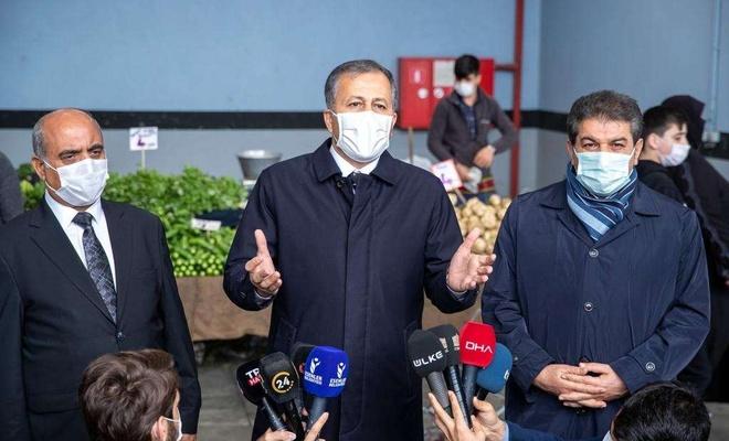 İstanbul Valisi Ali Yerlikaya HES kodu uygulamasına geçilen semt pazarlarını gezdi