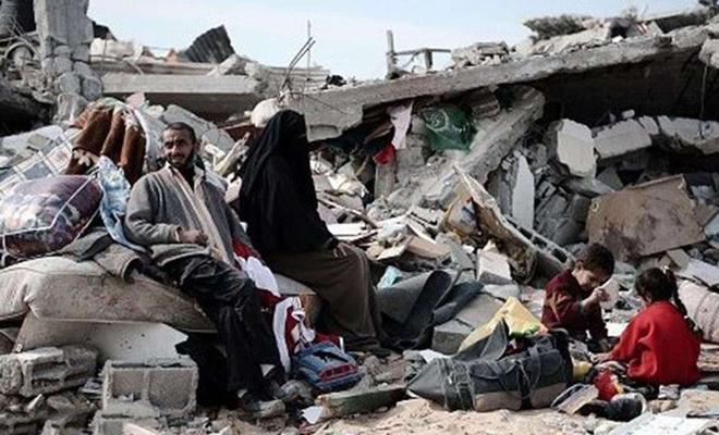 Siyonist işgalcilerin saldırılarında 40 bin Filistinli yerinden edildi