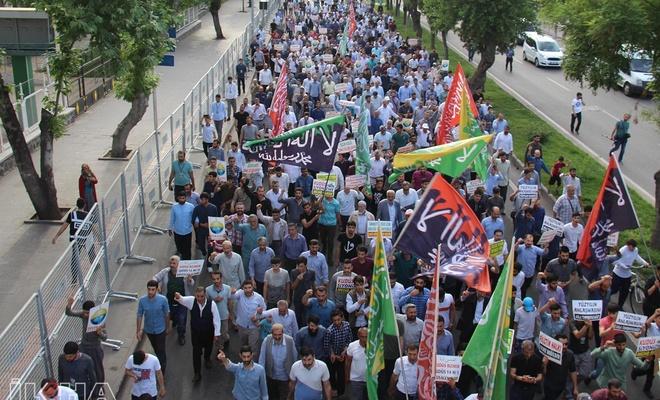 """Diyarbakır """"Özgür Kudüs"""" için yürüdü"""