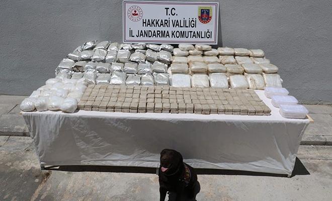 Hakkari'de 163 kilogram eroin yakalandı