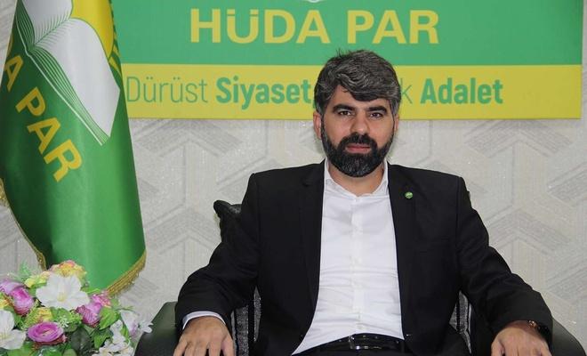 HÜDA PAR Diyarbakır İl Başkanı Dinç: Siyonist işgal rejimiyle siyasi ve ekonomik ilişkiler kesilsin