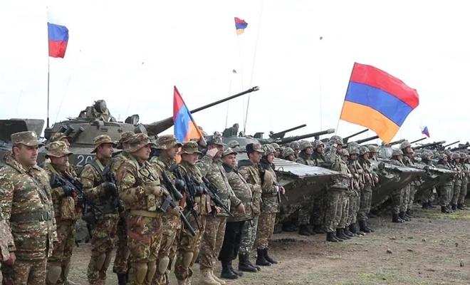 Ermenistan ve Rusya bugün ortak askeri tatbikat başlattı