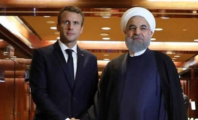 Ruhani ile Macron görüştü