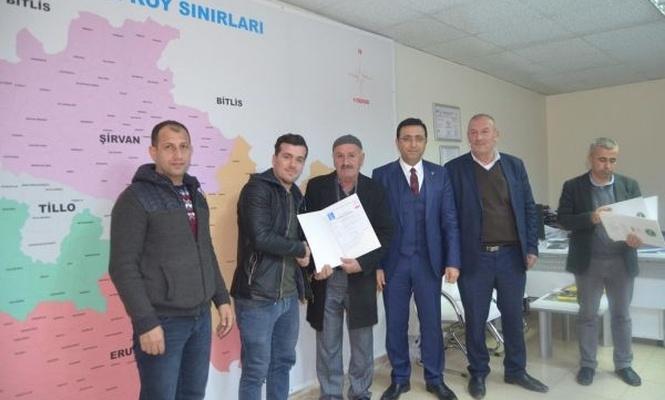 Siirt`te üreticilere organik tarım sertifikası verildi