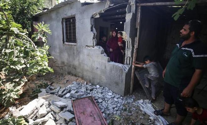 siyonist terör rejiminin Gazze'ye saldırısında ev ve tarım arazileri zarar gördü