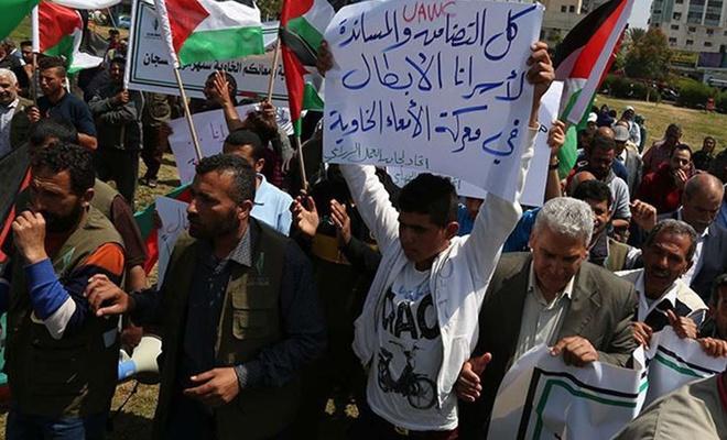 Açlık grevini sürdüren 6 Filistinlinin hayati tehlikesi artıyor