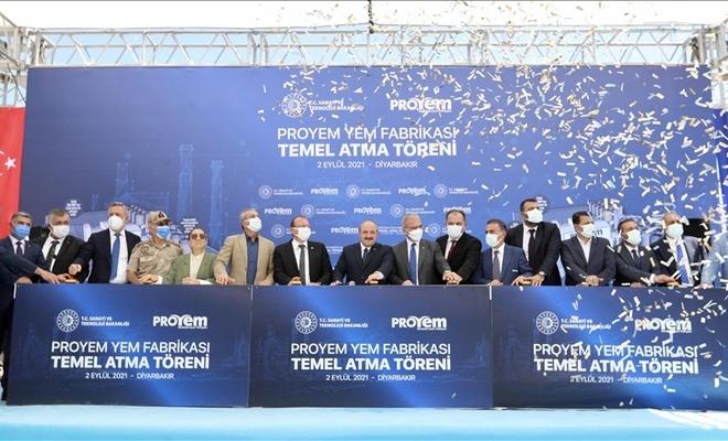 Diyarbakır'da Türkiye'nin en büyük entegre yem fabrikasının temelini attıldı