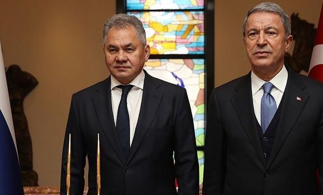 Hulusi Akar Rusya Savunma Bakanı ile görüştü