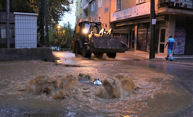 Bursa'da sel baskını