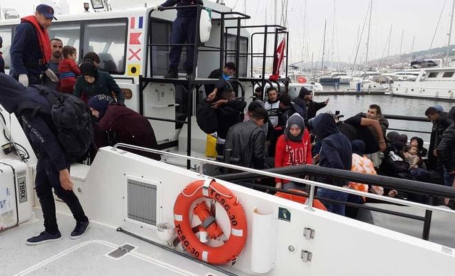 125'i çocuk 353 düzensiz göçmen yakalandı
