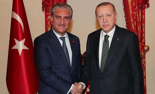 Erdoğan, Pakistan Dışişleri Bakanını kabul etti
