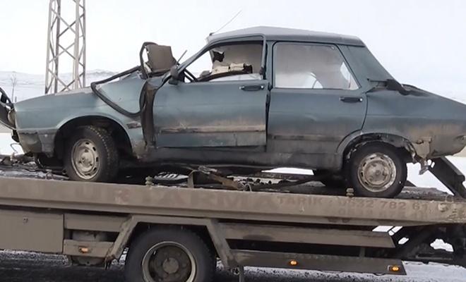 Kars`ta trafik kazası: 1 ölü, 3 yaralı