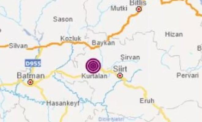 AFAD ve Kandilli Siirt depremini farklı rakamlarla verdi