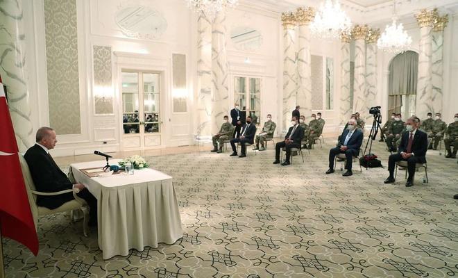 Erdoğan receives soldiers in Azerbaijan Task Force