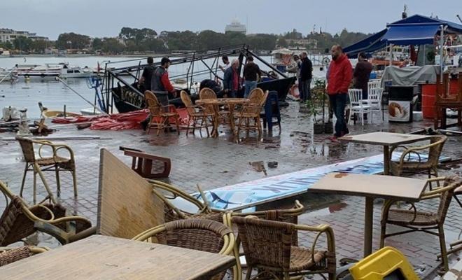 Marmaraereğlisi'nde hortum çatıları uçurdu