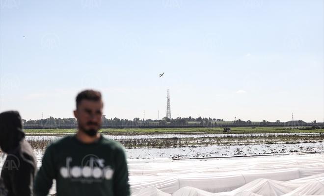 Siyonist işgal rejimi Gazze'deki tarım arazilerini sular altında bıraktı