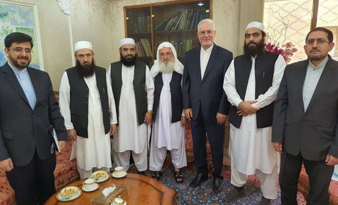 A Taliban delegation visits Iranian embassy in Doha