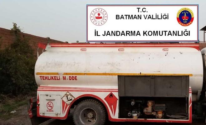 Batman'da kaçak motorin ele geçirildi