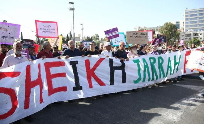 israillilerden Filistinlilere destek gösterisi