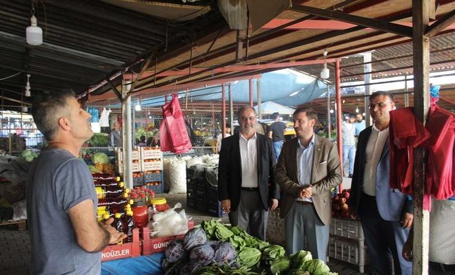 HÜDA PAR Elazığ'da esnaf ziyareti gerçekleştirdi