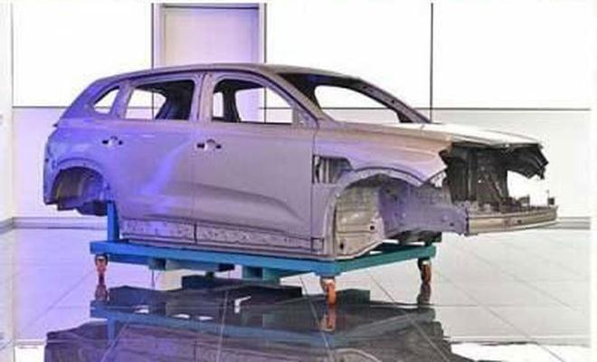 TOGG üretilen ilk otomobilin görüntülerini paylaştı