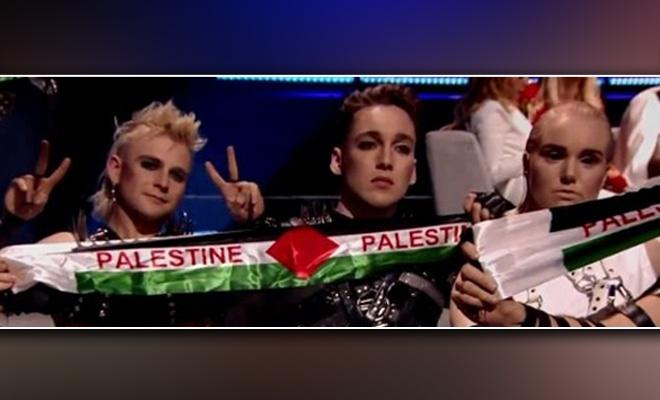 Eurovision'da bayrak açanlara ceza verilecek