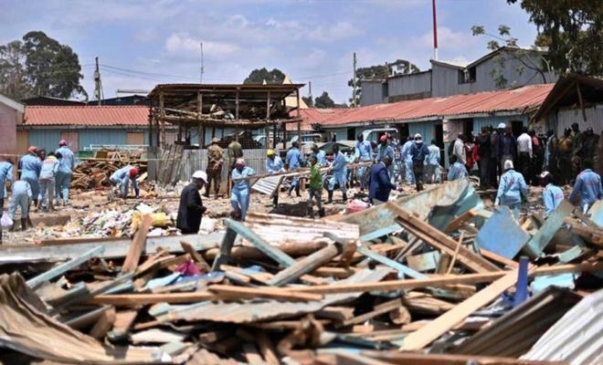 Kenya'da okul çöktü: 7 öğrenci öldü 57 yaralı