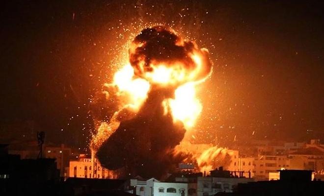 İşgal rejimi uçakları Gazze'ye hava saldırısı düzenledi