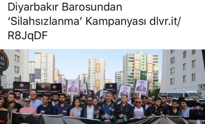 """Diyarbakır Barosu """"Bireysel Silahlanmaya Karşıymış"""" Neden Şimdi ve Niçin?"""