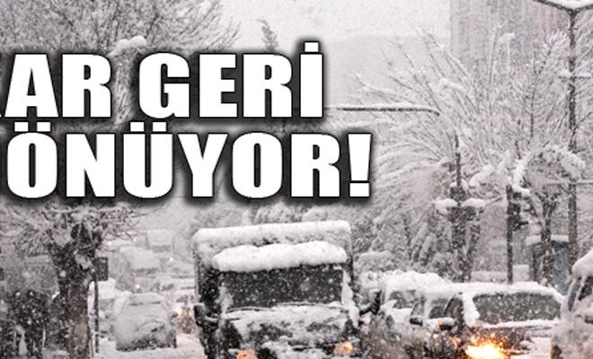 İstanbul`a kar geri dönüyor