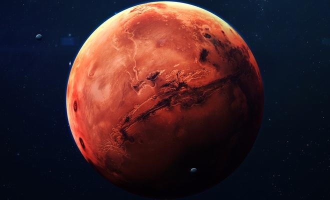 Çin de Mars'a indi