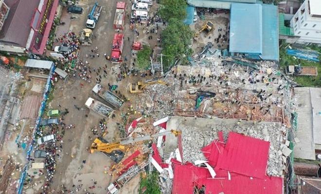 7 katlı bina çöktü! Çok sayıda ölü ve yaralı var
